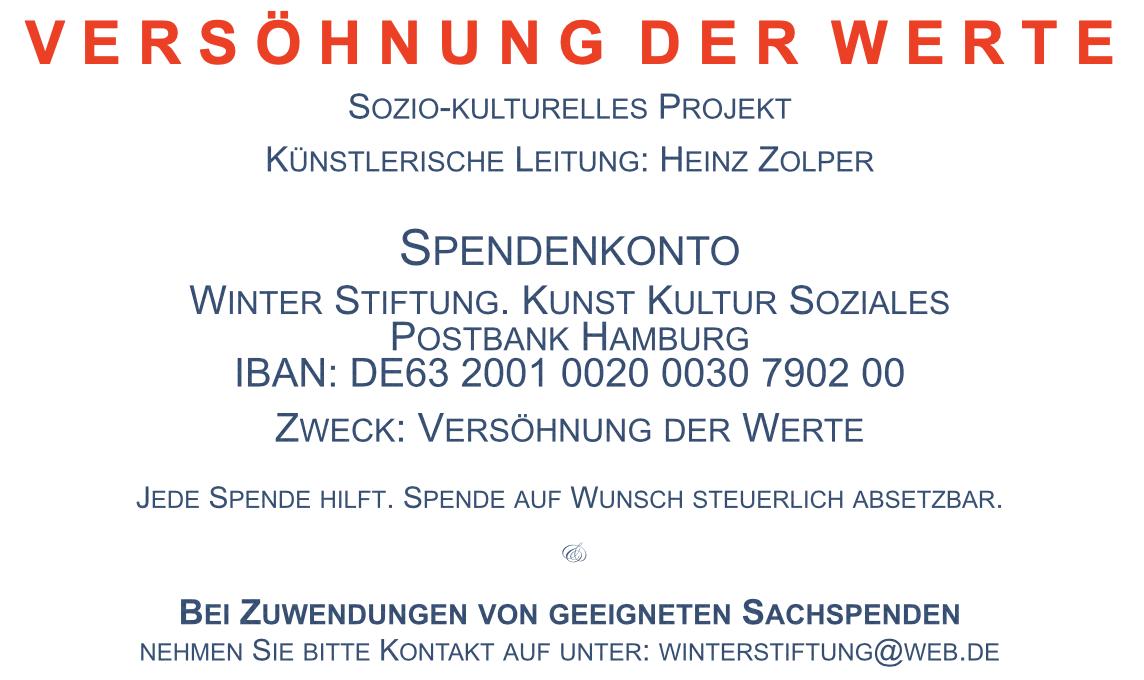 Zolper - Versöhnung der Werte. Spendenkonto Winter Stiftung