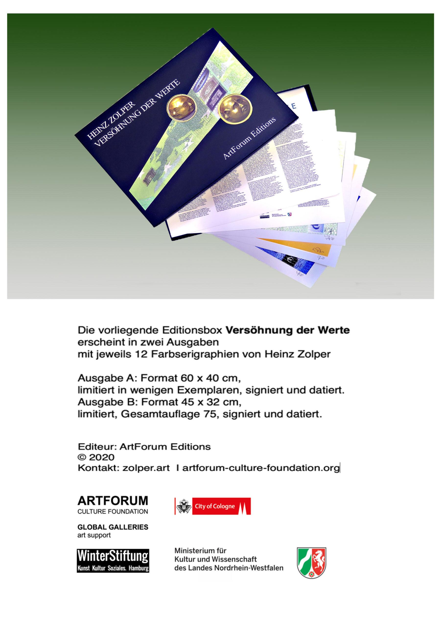 Zolper, Versöhnung der Werte. ArtForum Editions